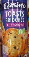Toasts briochés aux raisins - Product - fr