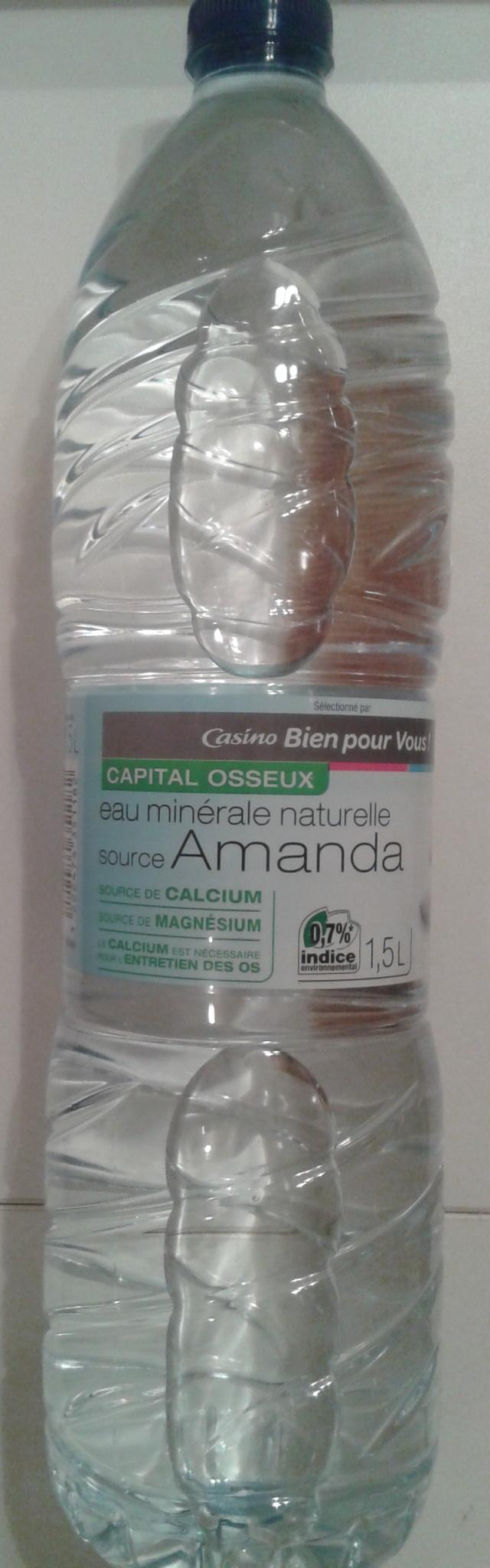 Eau minérale naturelle source Amanda - Product - fr
