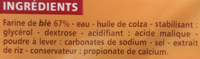Wraps - 6 galettes - Ingredients