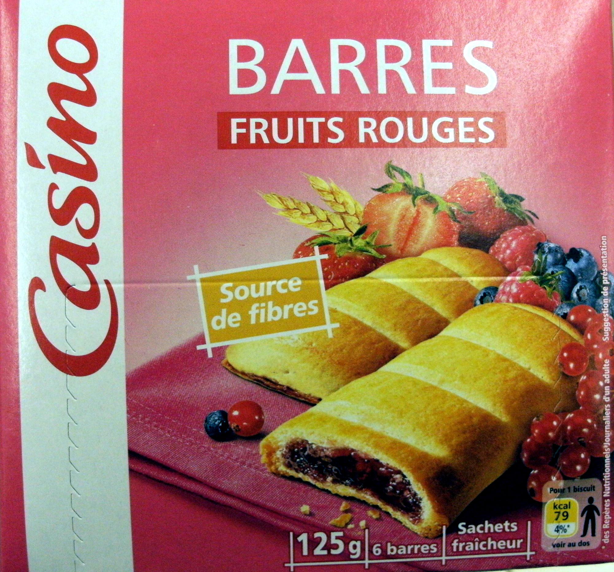 Casino barres fruits rouges - Produit - fr