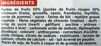 Casino barres fruits rouges - Ingredients