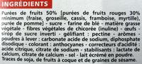 Casino barres fruits rouges - Ingrédients - fr