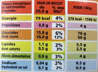 Casino barres fruits rouges - Informations nutritionnelles - fr