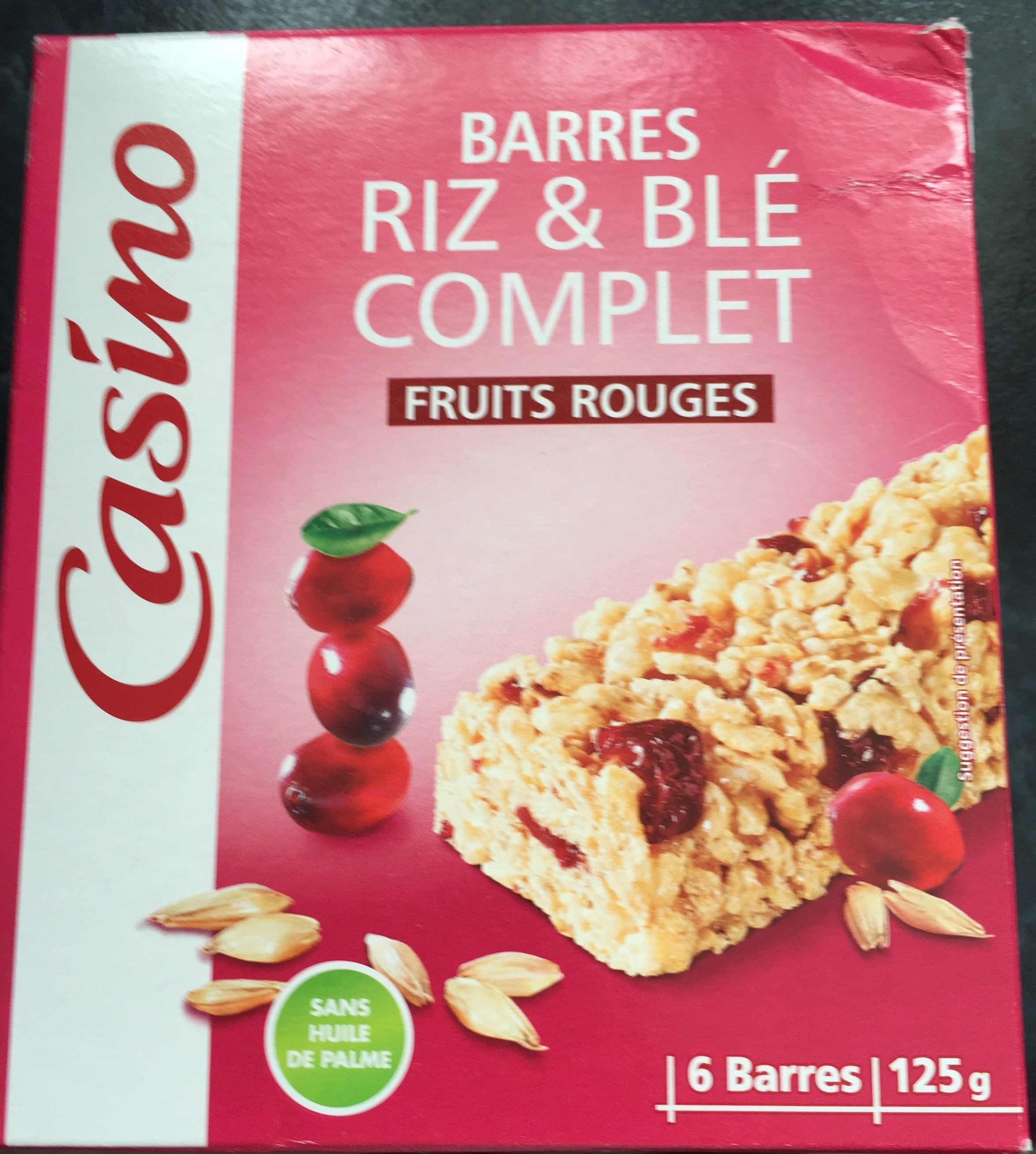 Barres riz & blé complet Fruits rouges - Produit - fr