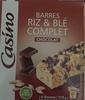 Barres riz et blé complet chocolat - Produkt