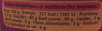 Miel liquide fleurs de France - Voedingswaarden