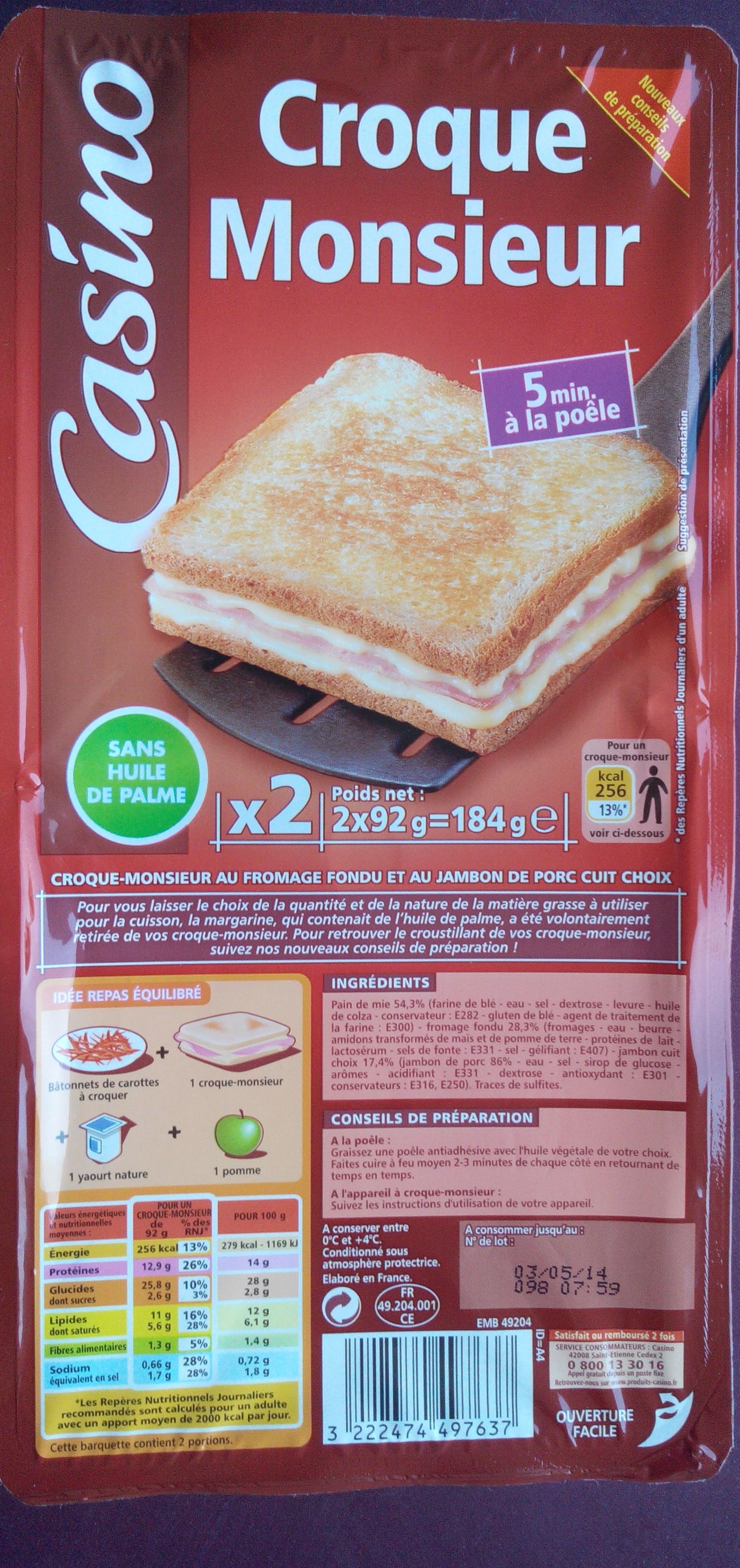 Croque Monsieur - Product - fr