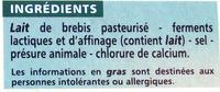Brique brebis - Ingredients - fr