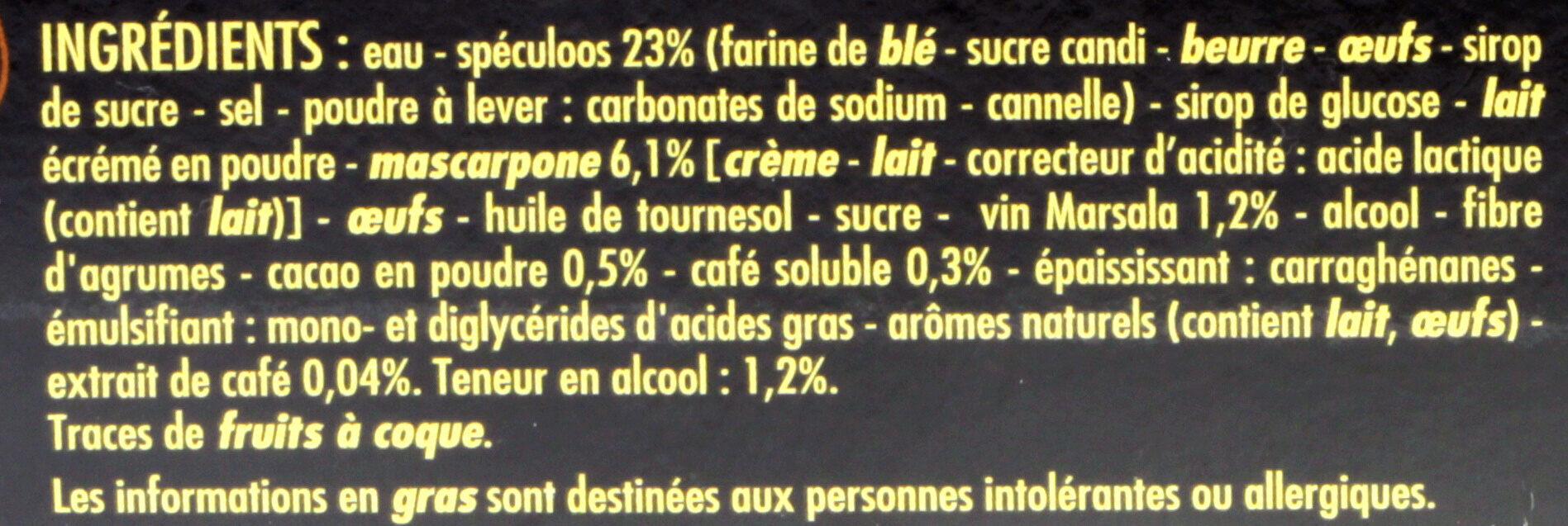 L'éblouissant Tiramisu au spéculoos - Brisures de spéculoos pur beurre - Ingredients