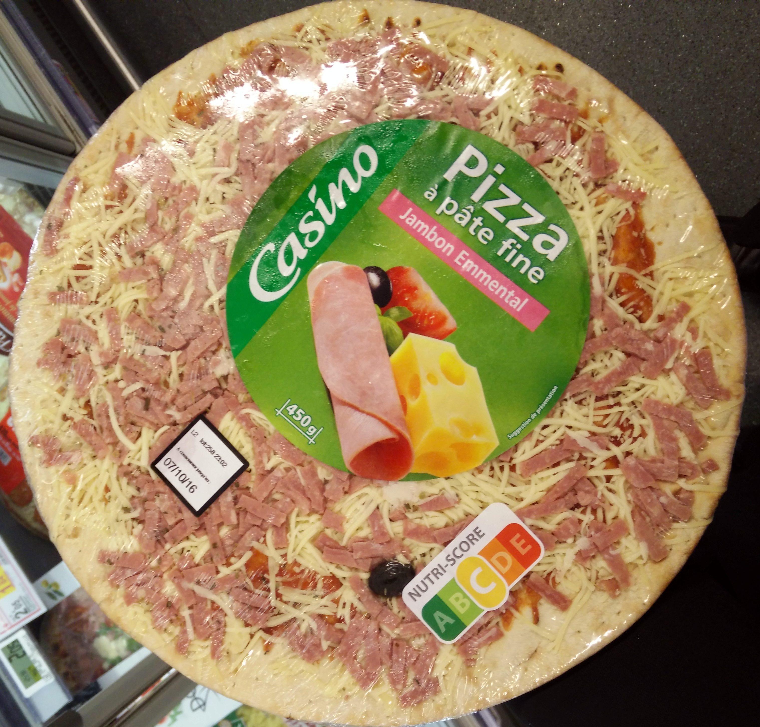 Pizza à pâte fine jambon-emmental - Product