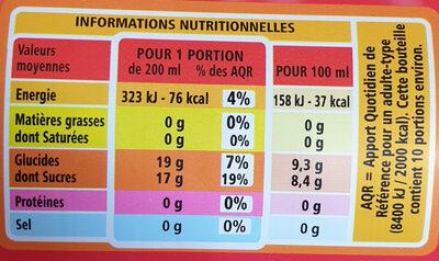 Fraise Framboise à l'eau de source - Nutrition facts - fr