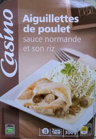 Aiguillettes de poulet, sauce normande et son riz - Produit