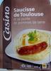 Saucisse de Toulouse et sa purée de pommes de terre - Produit