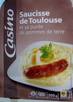 Saucisse de Toulouse et sa purée de pommes de terre - Product