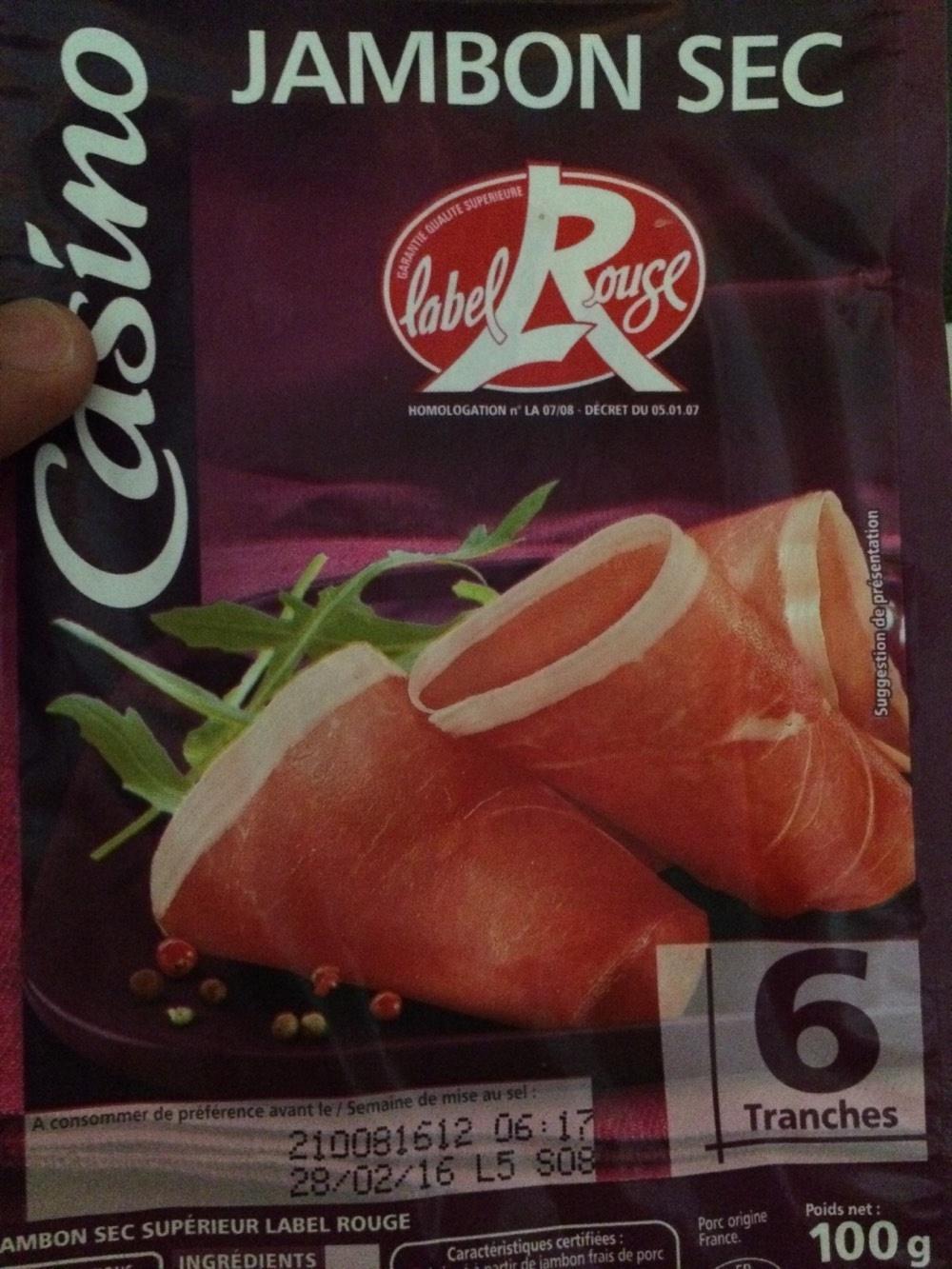 Jambon sec Label Rouge - Product