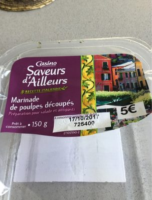 Marinade poulpe - Nutrition facts - fr