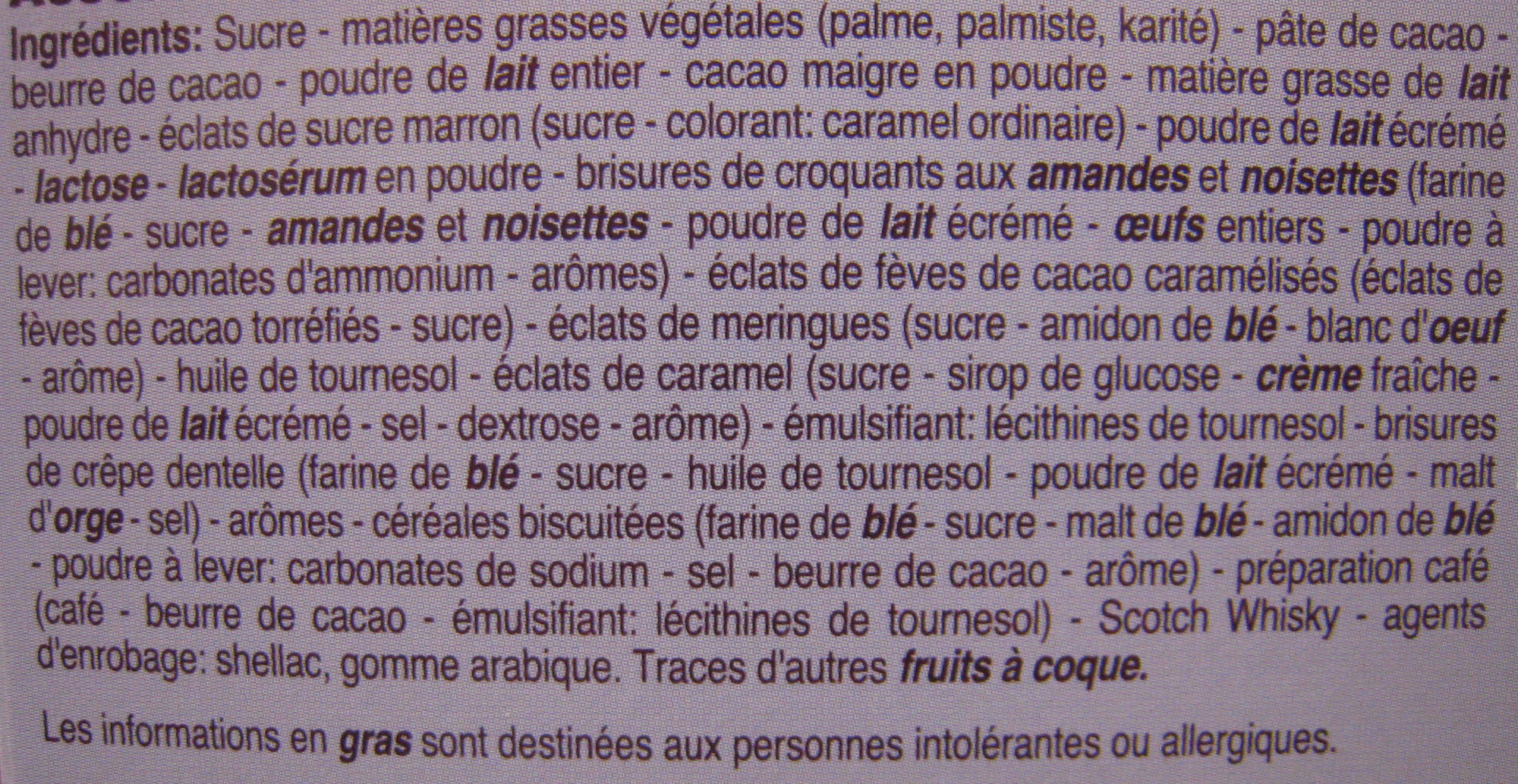 Rêves de chocolat Les desserts du chocolatier Beaumesnil - Ingredients