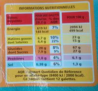 12 Grandes Galettes Bretonnes - Informations nutritionnelles - fr