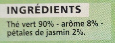 Thé vert aromatisé jasmin - Ingrédients