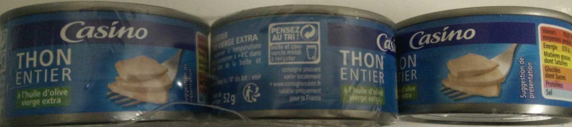 Thon entier à l'huile d'olive vierge extra - Produit - fr