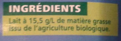 Lait demi-écrémé - Ingrédients - fr