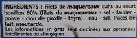 Filets de maquereaux au naturel - Ingrédients - fr