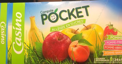 Gourdes de compotes 6xPomme 6xPomme-Abricot 6xPomme-Fraise 6xPomme-Banane allégées en sucres - Product