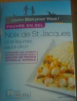 Noix de St Jacques, riz et légumes, sauce citron - Produit - fr