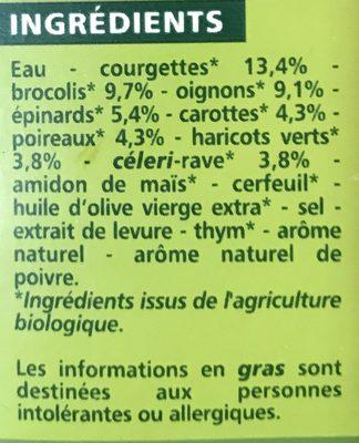 Velouté de légumes verts Bio - Ingredients - fr