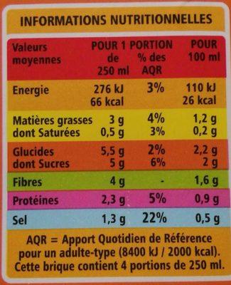 Velouté de légumes verts Bio - Nutrition facts - fr