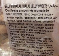 Assortiment de bonbons - Informations nutritionnelles