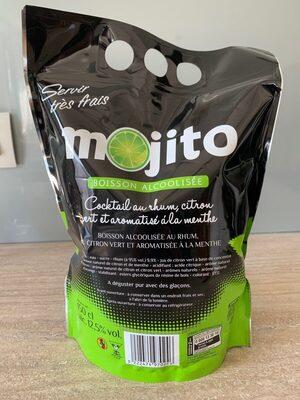 Mojito - Boisson alcoolisée - Cocktail au rhum, citron vert et aromatisé à la menthe - Produit
