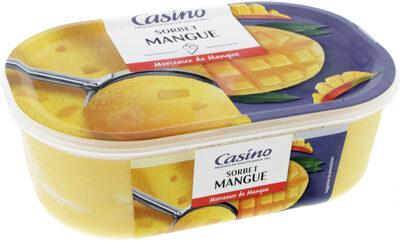 Sorbet mangue avec morceaux de mangue - Product