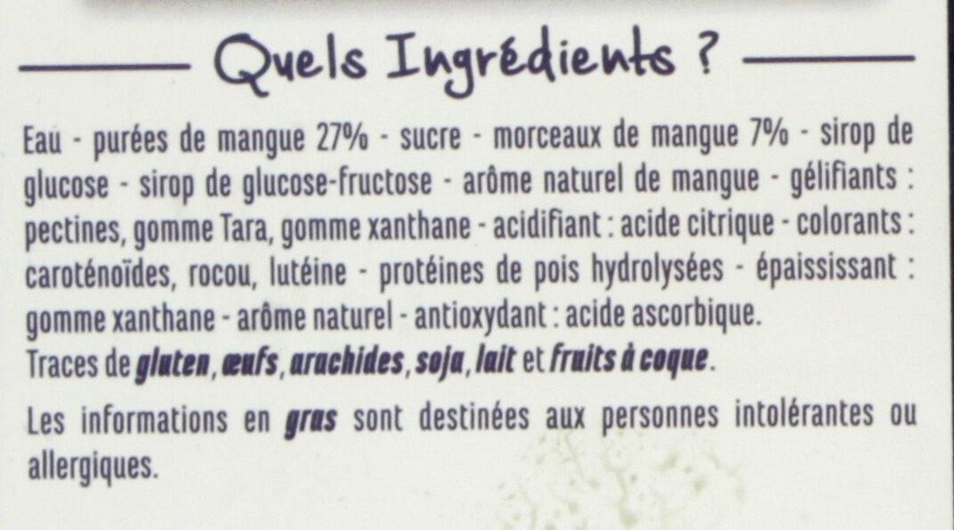 Sorbet mangue avec morceaux de mangue - Ingrédients - fr