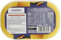 Sorbet mangue avec morceaux de mangue - Informations nutritionnelles - fr