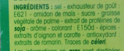 Bouillon saveur mouton - Ingredients