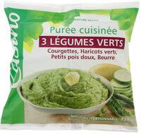 Purée 3 légumes verts cuisinée - Courgettes, haricots verts, petits pois doux - Produit - fr