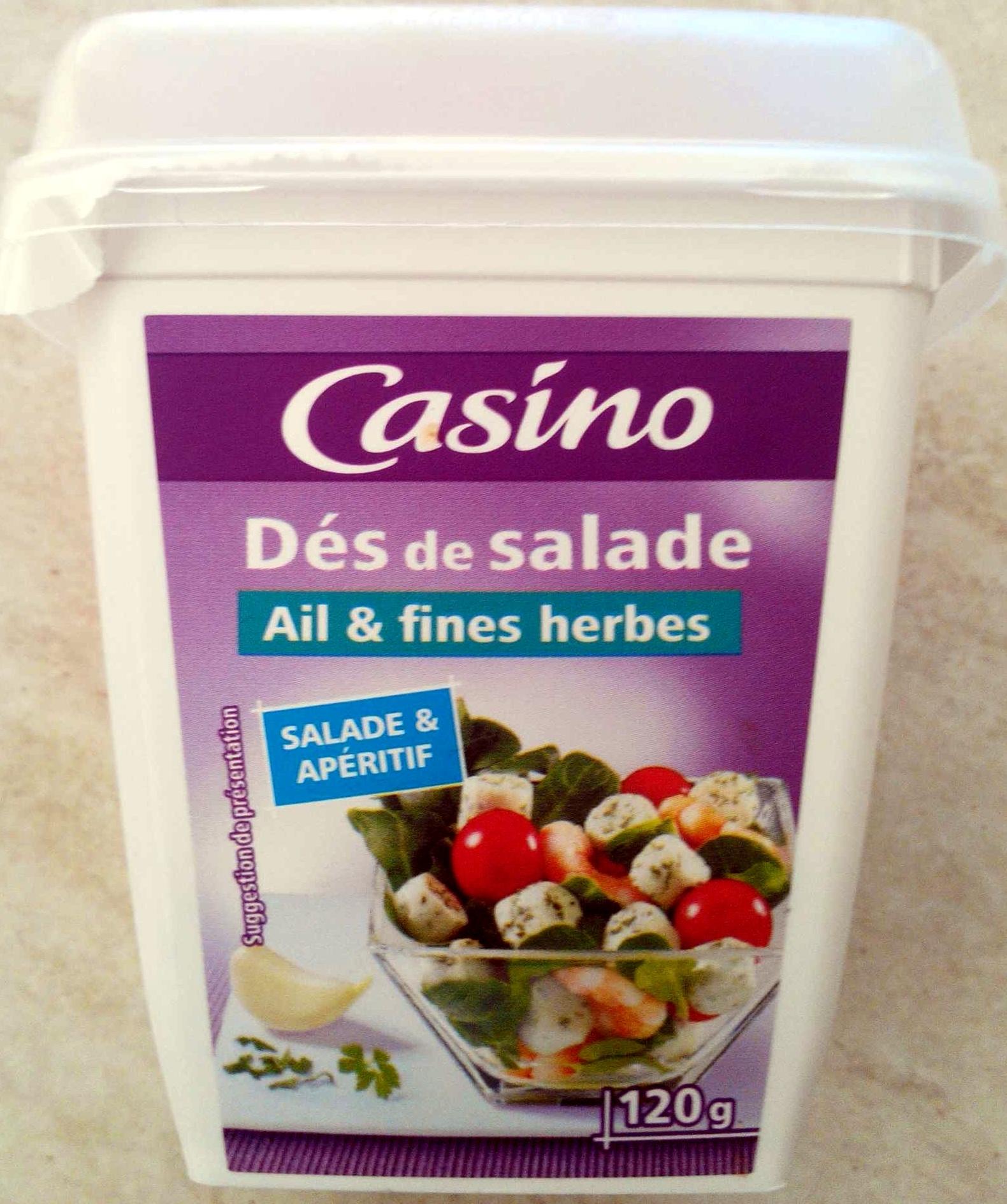 Dés de salade Ail et fines herbes - salade et apéritif - Product