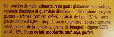 Bouillon e cube de bœuf - Ingrédients