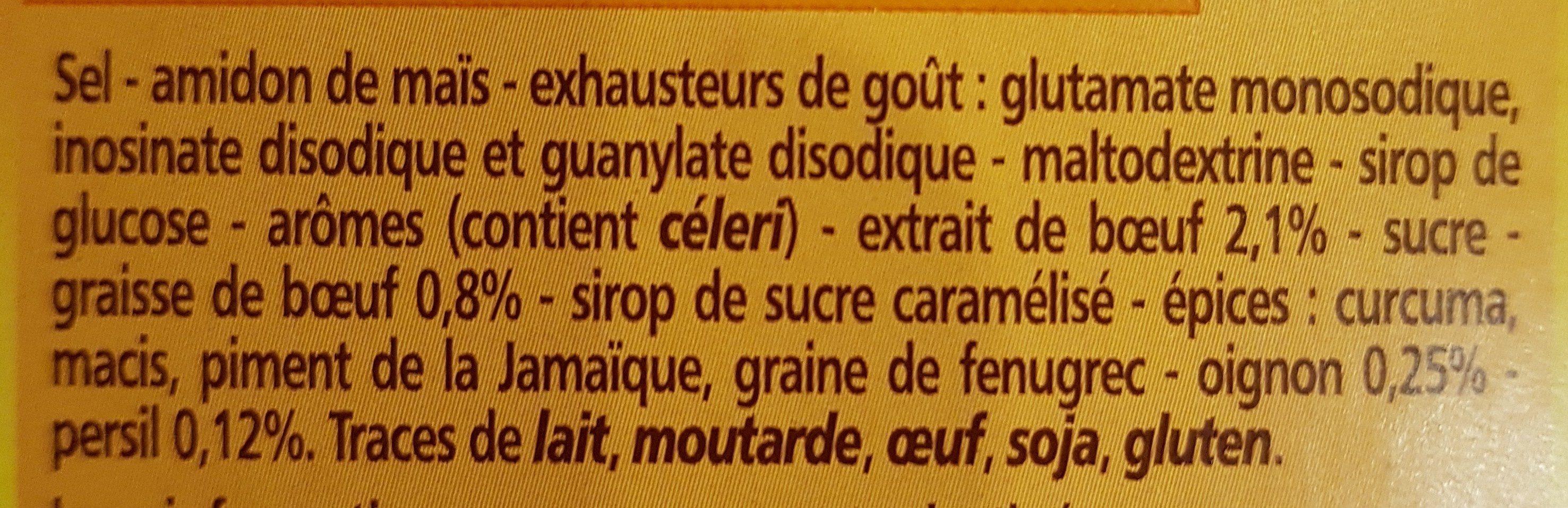 Bouillon e cube de bœuf - Ingrédients - fr