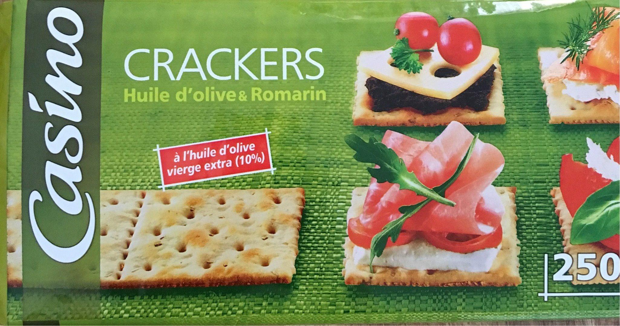 Crackers à l'huile d'olive vierge extra et au romarin - Product