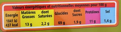 Crackers à l'huile d'olive vierge extra et au romarin - Nutrition facts