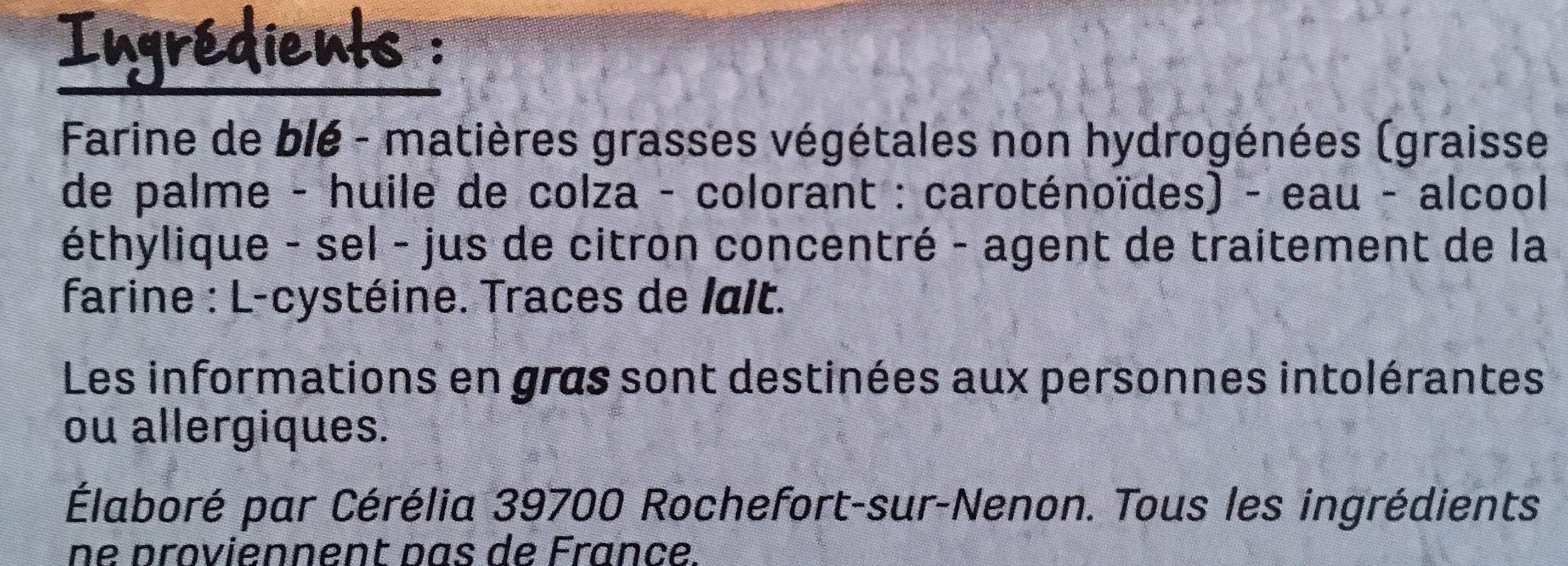 2 Pâtes feuilletées - Ingrédients