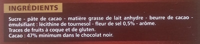 Noir Dégustation à la fleur de sel - Ingrédients - fr