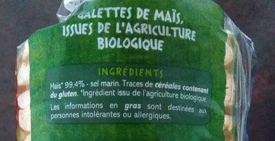 Galettes de Mais extra fines - Ingrédients - fr