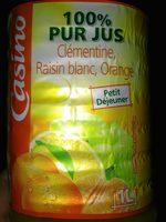 100% pur jus clémentine raisin blanc orange - Product