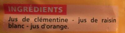 100% pur jus clémentine raisin blanc orange - Ingredients