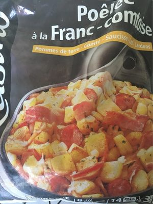 Poêlée à la Franc-comtoise Pommes de terre - Comté - Saucisse - lard - Lardons - Product