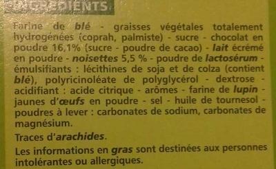 Gaufrettes Chocolat Noisettes - Ingrediënten - fr