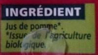100% pur jus de pomme - Ingrédients - fr